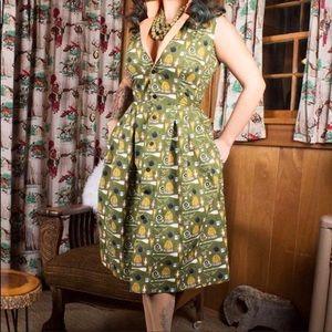 Oblong Box Shop Unhappy Camper Dress